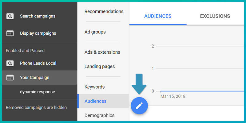 Creating an audience in Google AdWords